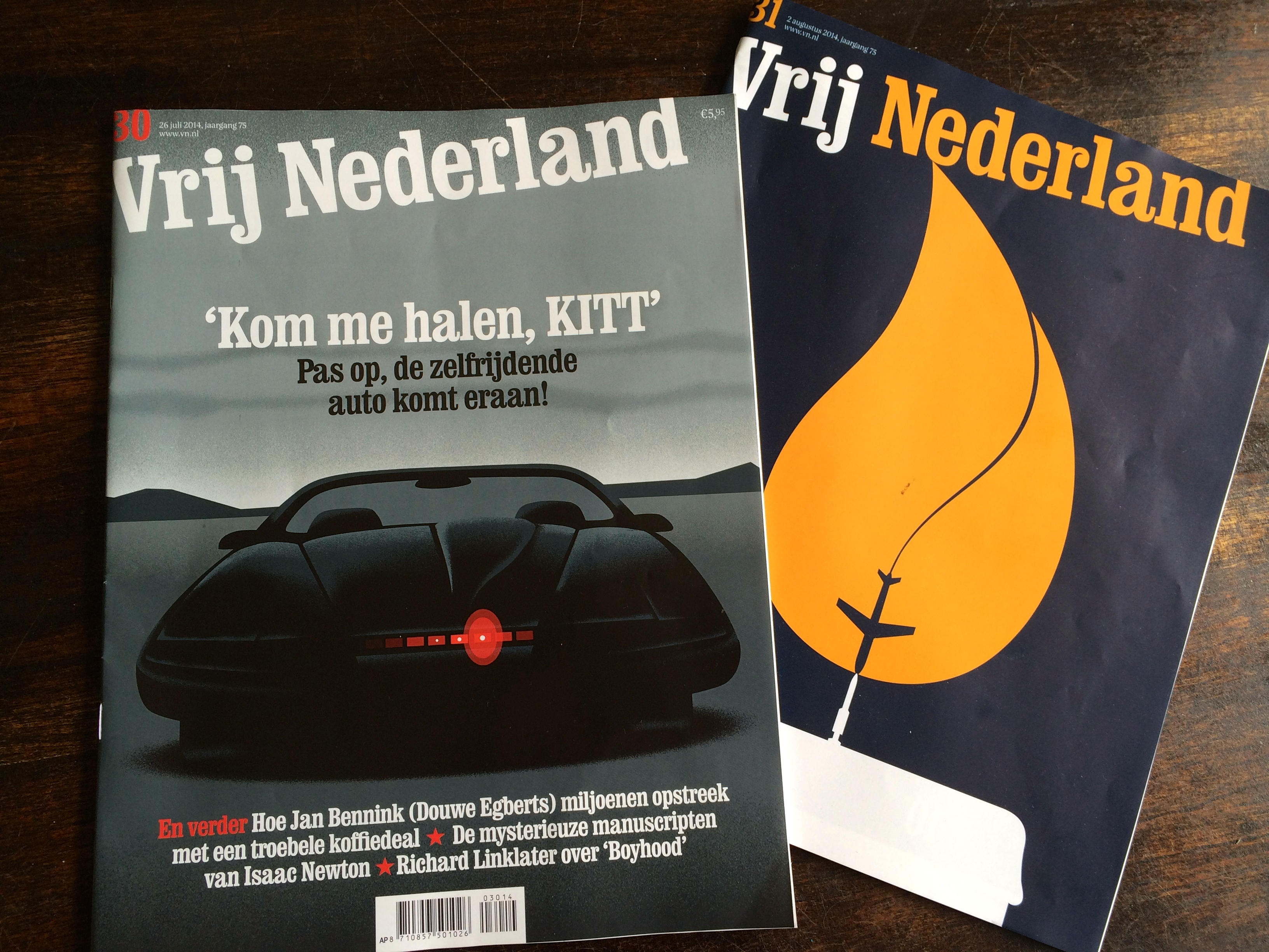 Vrij Nederland op de deurmat